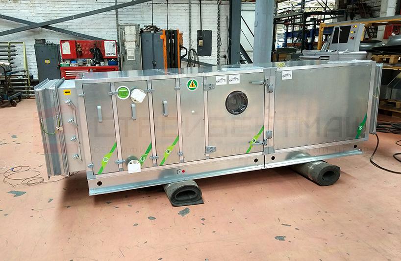 Испытания и аттестация на сейсмостойкость Камеры центральной приточной