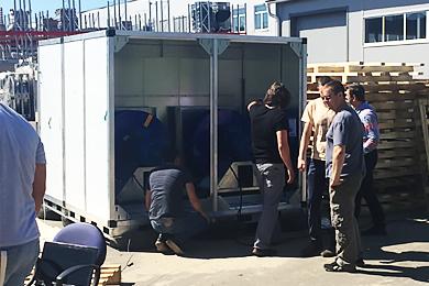 Испытания на сейсмостойкость Вентиляционной установки «Ballu Machine»,